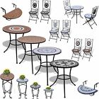 1/2/3 Pcs Outdoor Patio Bistro Set Mosaic Garden Table&chair Cafe Tea Furniture