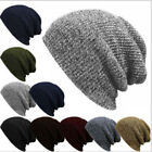 Men Womens Autumn Knit Baggy Beanie Winter Hat Ski Slouchy Knitted Cap Skullies