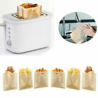 US 1-20x Non-be resolute Toaster Toast Bag Sandwich Baking Pouch Food Pocket Washable