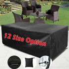 12 size Waterproof Garden Patio Furniture Cover Rectangular Outdoor Table Covers