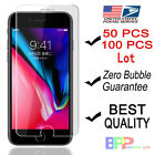 100x Wholesale Lot Tempered Glass Screen Protector for iPhone X 8 6s 7 Plus 50x <br/> US In Stock✔1-3 Day Delivery w Tracking ✔Fast Shipping