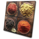Indian Herbs Spices Cooking Food Kitchen SINGLE CANVAS WALL ART Picture Print
