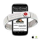 Heart Attack Awareness Medical ID Alert Bracelet ICE SOS Emergency Phone Access