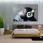 Music Orangutan Animal Print Canvas Art Wall Poster Painting Picture Home Decor