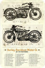 "Harley Davidson 61 and 74 TWIN MODELS blue print Sign 8""x12"".040″Aluminum $14.99 CAD on eBay"