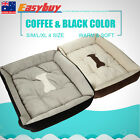 Soft Fleece Pet Dog Kennel Warm Cat Puppy Bed Bone Pattern Mat Pad House Cushion