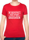 Warning May Talk About Snooker Hobbies Funny Ladies T-Shirt $12.26 USD on eBay