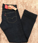 NWT Levis 527 Slim Boot Cut 'Indigo' Blue Jeans with intentional leg frays(0490)