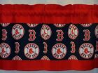 "Boston Red Sox MLB Baseball Red Custom Valance Panels Choose:40"",52"", 80"" x 13""L on Ebay"