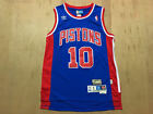 Detroit Pistons #10 Dennis Rodman Retro Basketball Jersey Blue Size: S - XXL on eBay