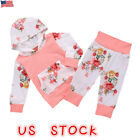 US Newborn Toddler Baby Girl Boy Winter Outfits Floral Cloth