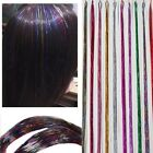 Flare Hair Sparkel Hair Bling Rainbow Silk Hair Tinsel Synthetic Hair Extension