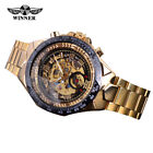 New Winner Mens Skeleton Stainless Steel Automatic Mechanical Sport Wrist Watch