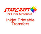 "StarCraft Inkjet Printable HTV Transfer 8.5""x11"" Sheet for Black Dark Materials"