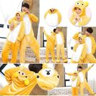 Wonems Mens One Piece Flannel Pajamas Kigurumi Cosplay Costume Animal Sleepwear