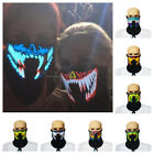 LED Luminous Flashing Party Face Mask Light Up Voice-activated Halloween Mask US