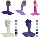 Adult Mermaid Tail Knitted Hand Crocheted Soft Warm Sleeping Bag Wrap Blanket image