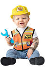 Brand New Construction Workers Hard Hat Demo Crew Baby Infant Costume