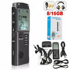 16G Rechargeable Digital Audio Sound Voice Recorder Pen Dictaphone MP3 Player -