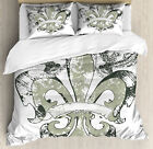 floral duvet cover set with pillow shams
