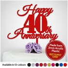 PERSONALISED Happy Anniversary Cake Topper ANY YEAR 1st 2nd 20th 30th 40th 50th