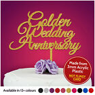 GOLDEN Wedding Anniversary Cake Toppers PERSONALISED ANY ANNIVERSARY 50th Fifty