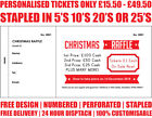 PRINTED PERSONALISED RAFFLE PRIZE DRAW TICKETS CHRISTMAS