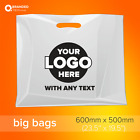 Event Plastic Carrier Bags with custom printed logo text