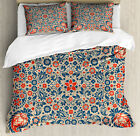 Paisley Duvet Cover Set with Pillow Shams Cultural Folk Persian Print image
