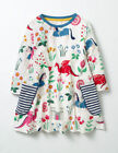 New MINI BODEN Girls Dragons Castles Lady Floralot Print Tunic Top Medieval