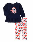 NWT Gymboree Blooms and Boats 2PC Top/Leggings Baby Girl 6-1