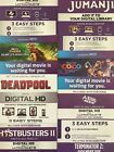 4K/HD Digital Movie Codes on eBay