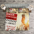 Zombie Quilted Bedspread & Pillow Shams Set, Dead Man Walking Print image