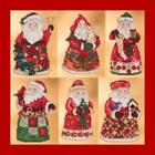 MILL HILL JIM SHORE Counted Cross Stitch Beaded Kits - SANTA