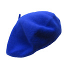 Wool French Beret Women's Men's Plain Solid Color Tam