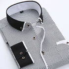 US Luxury New Fashion Mens Slim Fit Shirt Long Sleeve Dress Shirts Casual Shirts