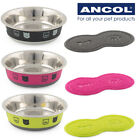 Ancol Fusion Cat & Kitten Food Bowls Water Dish Stainless Steel & Feeding Mats