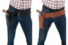 Внешний вид - WESTERN COWBOY SINGLE HOLSTER ADULT MENS BROWN BLACK GUNMAN GUN COSTUME BELT