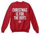 Christmas Is For The Boys - Hanes Unisex Crewneck Sweatshirt