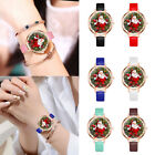 Women Watch Christmas Leather Small Band Analog Quartz Vogue Wrist Watches Gift image