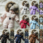 Внешний вид - Toddler Baby Boy Girl Comfy Soft Romper Jacket Hooded Jumpsuit Thick Coat Outfit