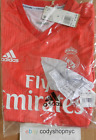 Внешний вид - NWT Adidas Real Madrid Third Soccer Jersey 18/19 Authentic Coral Red 3rd DP5441