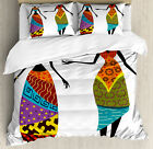 African Woman Duvet Cover Set with Pillow Shams Tribal Co...