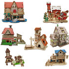 3D Wooden Puzzle DIY Building Model Dollhouse Style House Jigsaw Puzzle Toy Gift