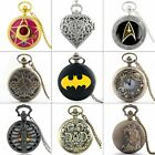 Steampunk Retro Style Antique Quartz Vintage Pocket Watch Necklace Chain Pendant image