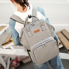 Waterproof Large Mummy Backpack Nappy Diaper Baby Nursing Bag with USB Port US