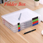 Внешний вид - Durable A4 School Transparent  File Folder Paper Storage Document Box Plastic