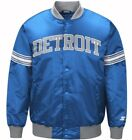 Authentic Detroit Lions Starter NFL satin  jacket - Blue on eBay