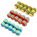 10Pcs Rainbow Stripe foam Sponge Golf Balls Swing Practice Training Aids HV