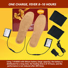 Electric Heated Rechargeable Socks 5-20 Hours, Heating Shoe Insoles Foot Battery